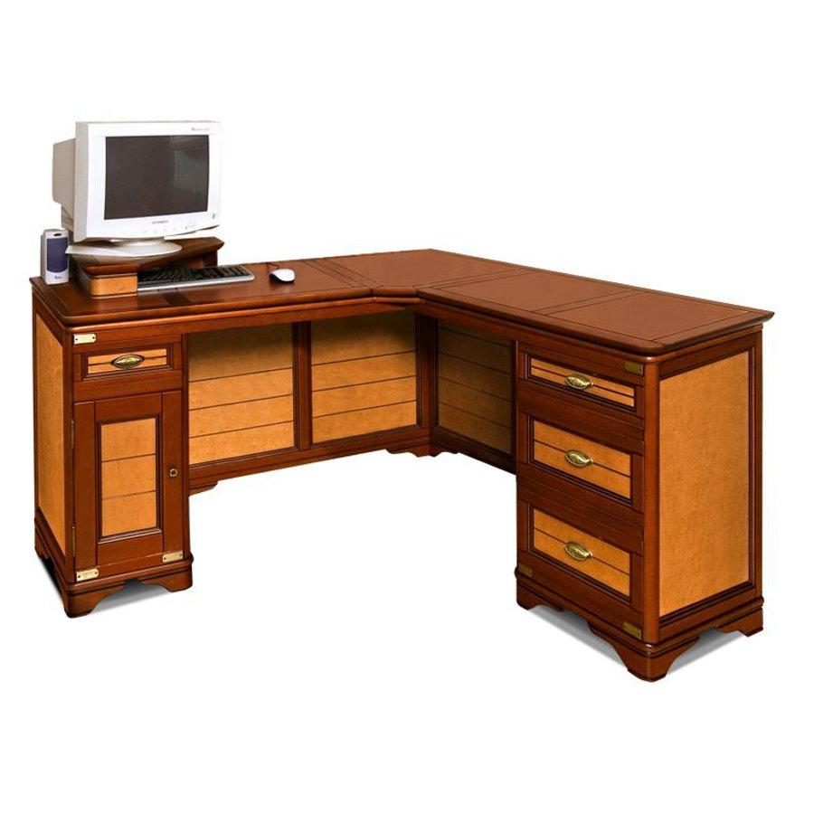 Обзор угловых письменных столов из массива натурального дере.